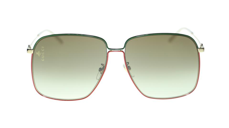 4c252af408 Gucci GUCCI BEE SUNGLASSES GG0394S 003 RED GREEN WITH BROWN LENS Image 7.  12345678