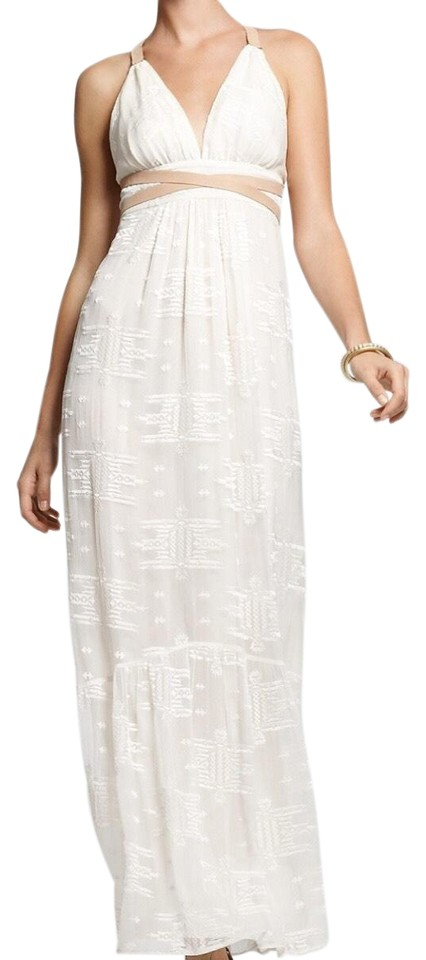 Twelfth St By Cynthia Vincent Off White Lace Long Casual Maxi Dress Size 4 S 55 Off Retail