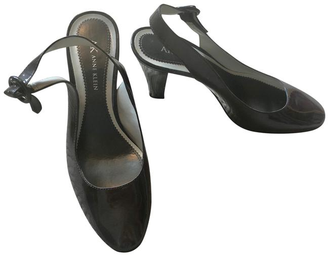 Anne Klein Grey Sofie Slingback Heel Pumps Size US 7.5 Regular (M, B) Anne Klein Grey Sofie Slingback Heel Pumps Size US 7.5 Regular (M, B) Image 1