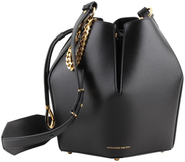 Item - Bucket Bag Black Calfskin Leather Satchel