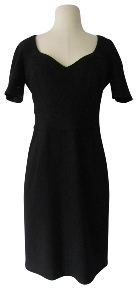 Narciso Rodriguez Black Wool Cashmere Blend Bustier Top Sheath Mid