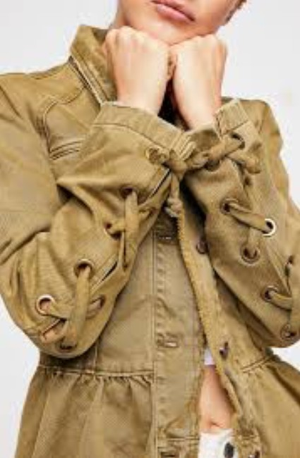 Free People Olive /Moss Womens Jean Jacket Image 1