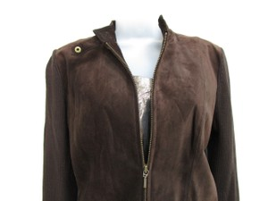 Eastside Westside Suede Moto Sweater Moto Sweater Suede And Sweater brown Leather Jacket