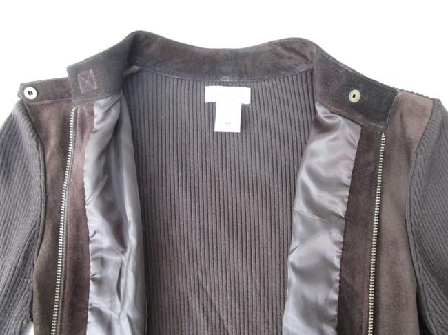 Eastside Westside Suede Moto Sweater Moto Sweater Suede And Sweater brown Leather Jacket Image 7