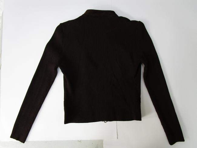 Eastside Westside Suede Moto Sweater Moto Sweater Suede And Sweater brown Leather Jacket Image 8