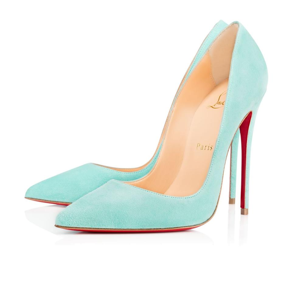 cd95210dc0b Christian Louboutin Blue So Kate 120 Source Light Suede Stiletto Classic  Pointed Heel Pumps
