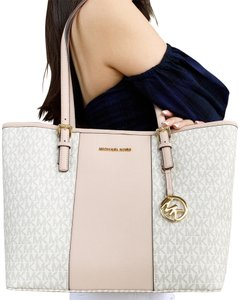 2ad6dc76f7f9 ... promo code for michael kors carryall new with tag mk signature tote in  vanilla ballet pink