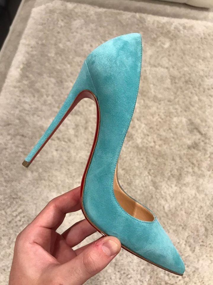 e46ed91843a Christian Louboutin Blue So Kate 120 Source Light Suede Stiletto Classic  Pointed Heel Pumps Size EU 35.5 (Approx. US 5.5) Regular (M, B)