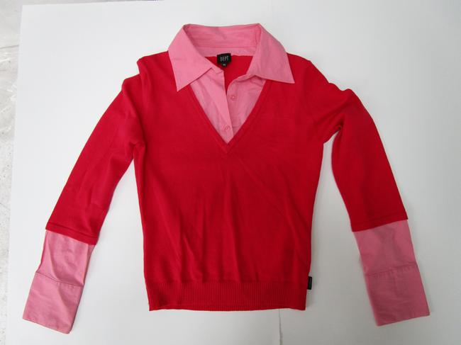 DEPT On Layered Shirt Sweater Image 2