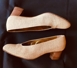 Walter Steiger Fabric Leather Tan Pumps