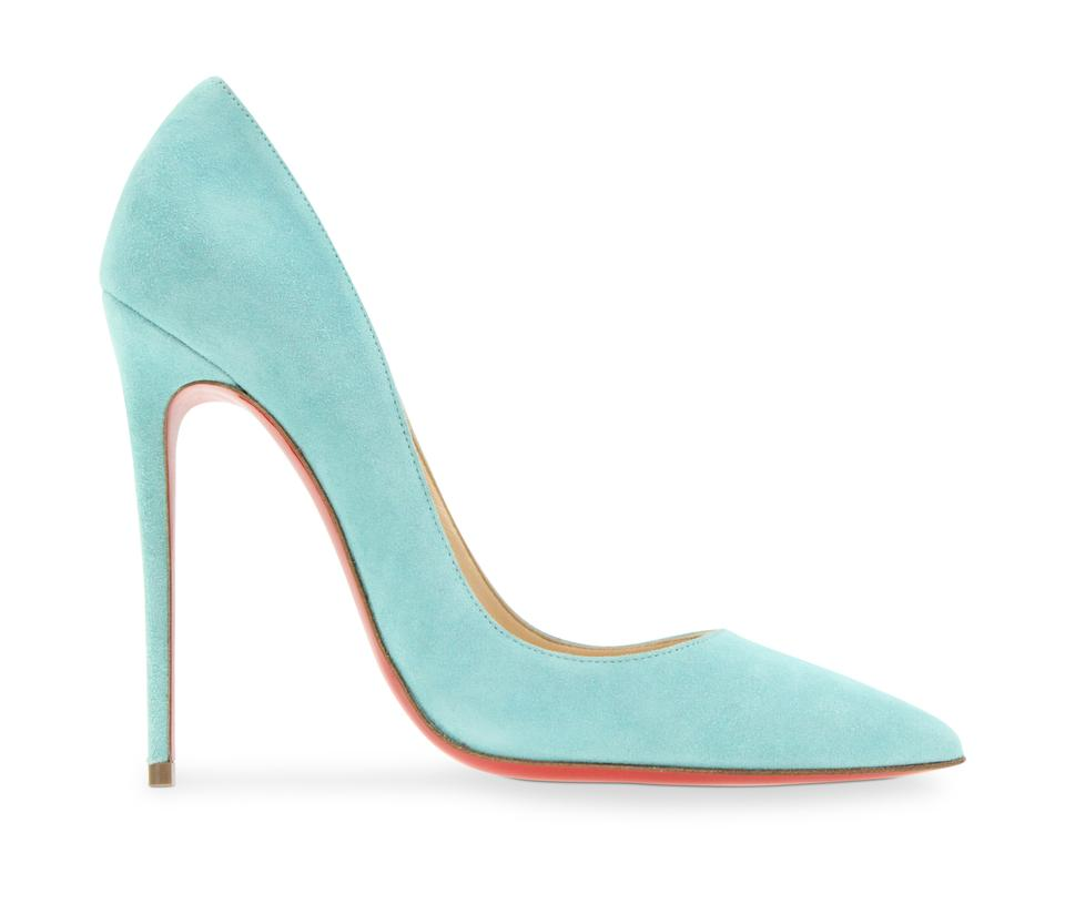 4250e76d101484 Christian Louboutin Blue So Kate 120 Veau Velours Pumps Size EU 38 ...