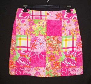 Lilly Pulitzer Cototn Mini Patchwork Floral Mini Skirt