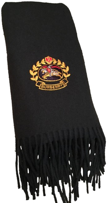 Item - Green/Gold/Red New Long Oversized Embroidered Logo Crest In Lambswool Throw Vintage Scarf/Wrap