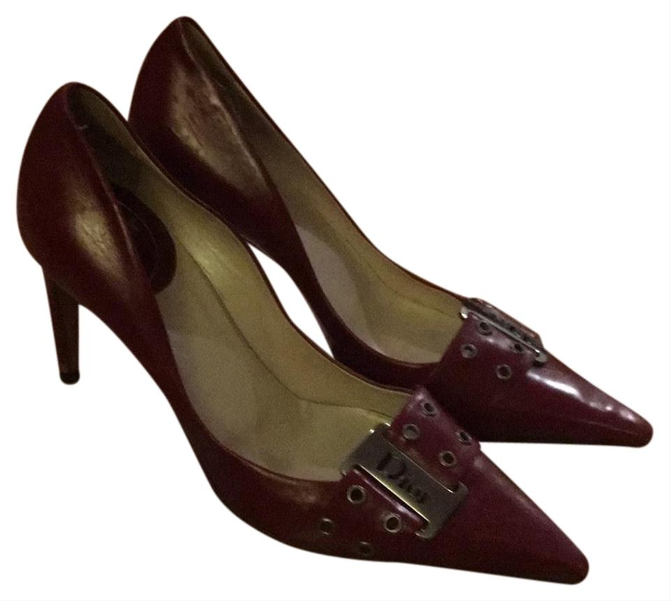 20d90a7e840 Dior Red Barely Used Leather Christian Stilettos Pumps Size EU 36.5  (Approx. US 6.5) Regular (M, B)
