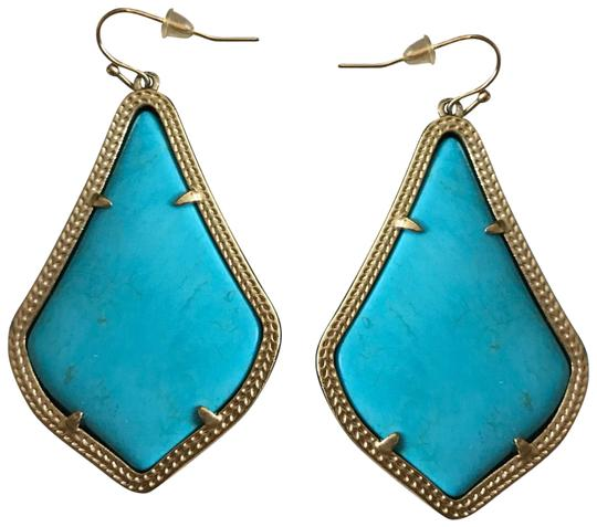 Preload https://img-static.tradesy.com/item/24260078/kendra-scott-turquoise-drop-earrings-0-3-540-540.jpg