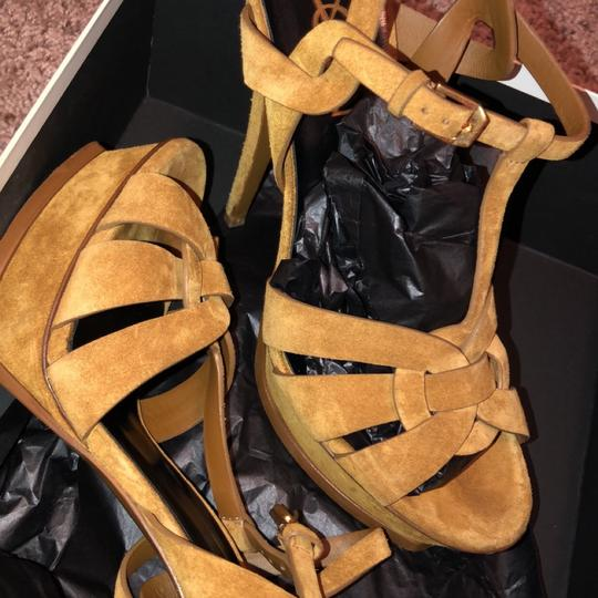 Saint Laurent TAN Platforms Image 3