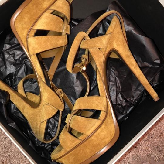 Saint Laurent TAN Platforms Image 4