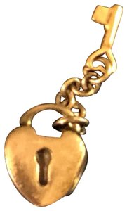 PANDORA Pandora Key To My Heart Charm Two Tone Sterling Silver and 14K Yellow Gold (KEY) #790288