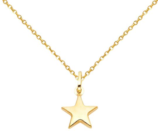 Preload https://img-static.tradesy.com/item/24260173/yellow-14k-star-pendant-12mm-cut-cable-chain-18-necklace-0-3-540-540.jpg