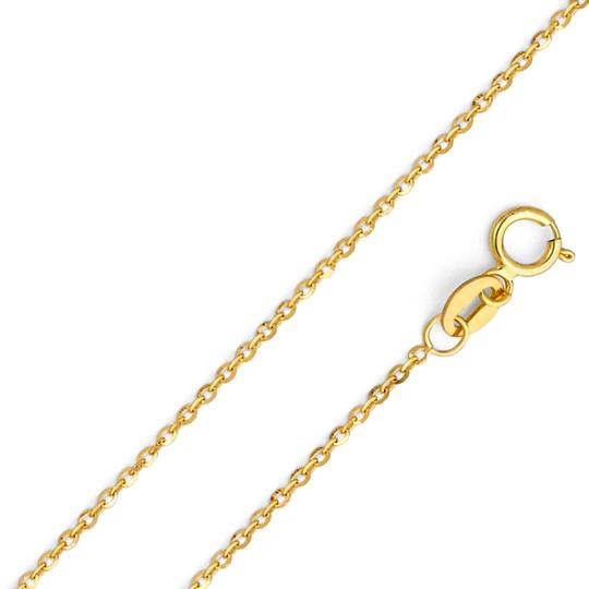 Top Gold & Diamond Jewelry 14k Yellow Gold Star Pendant 1.2mm Diamond Cut Cable Chain - 18'' Image 3