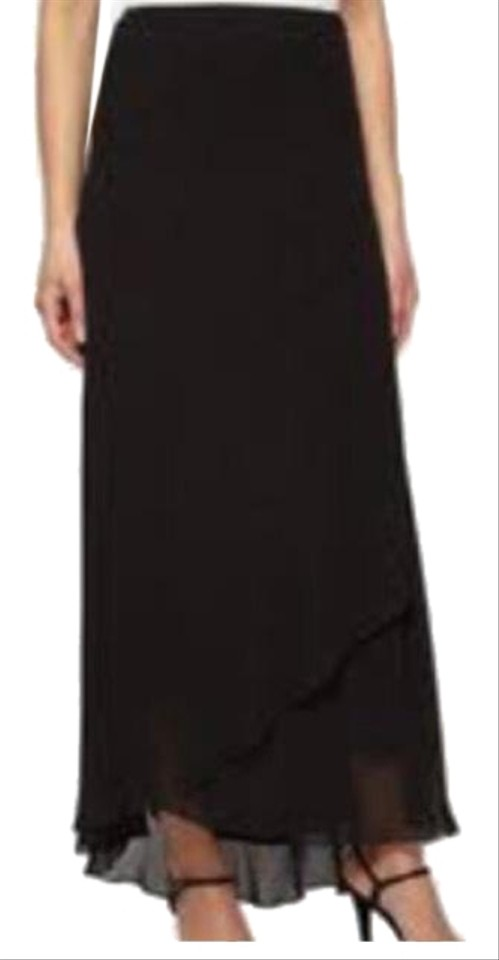 a610fb3fd Alex Evenings Black Chiffon Skirt Size 12 (L, 32, 33) - Tradesy