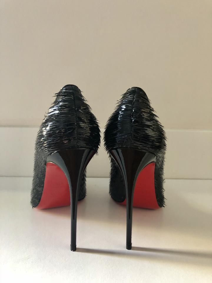50b6d9a2c36f Christian Louboutin Pigalle Follies 100mm Leather black Pumps Image 6.  1234567