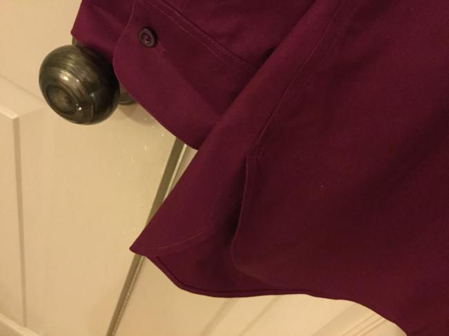 Chico's Blouse Sleeves Size 2 Button Down Shirt Magenta Image 3