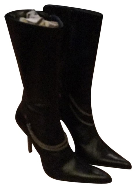 Item - Black with Silver Trainn Boots/Booties Size US 7 Regular (M, B)