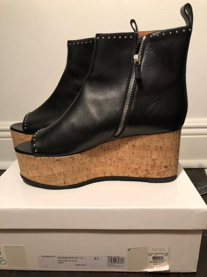 a14f043f907 Givenchy Black Ankle with Peep Toe Wedges Boots/Booties Size EU 41 (Approx.  US 11) Regular (M, B) 84% off retail