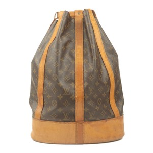 Louis Vuitton Leather Luxury Vintage Monogram European Backpack