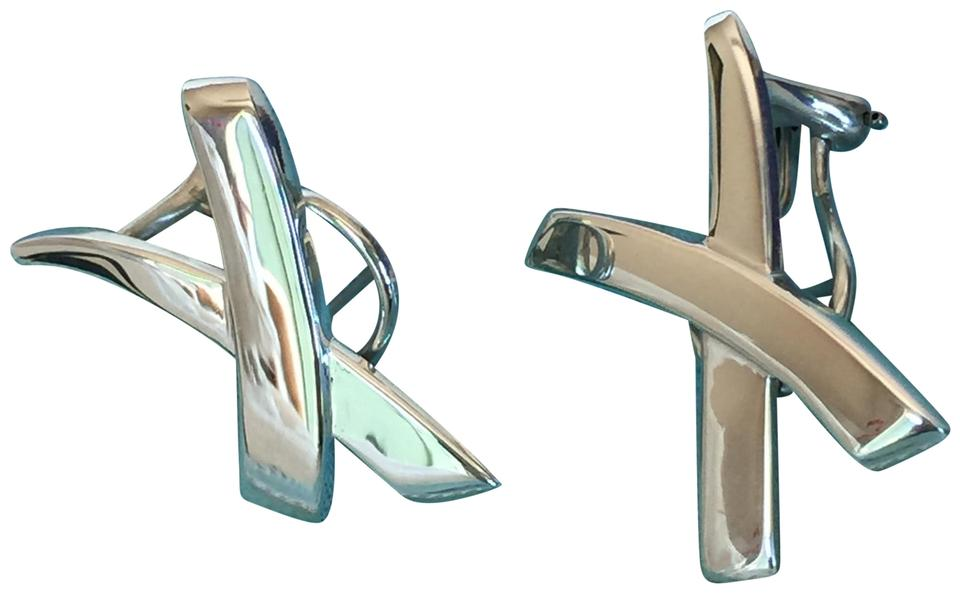 d129c9894 Tiffany & Co. Tiffany & CO. Paloma Picasso Sterling Kiss X Earrings Image 0  ...