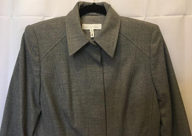 Escada Wool Blend Concealed Buttons Two Front Pockets Lined Grey Blazer Image 1