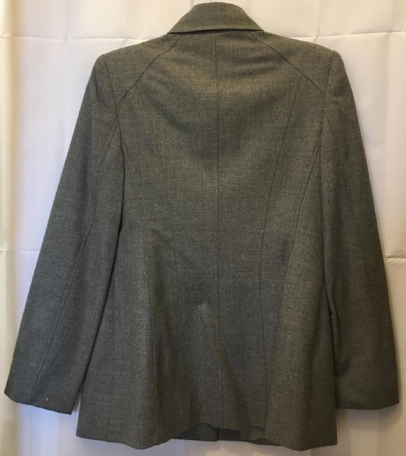 Escada Wool Blend Concealed Buttons Two Front Pockets Lined Grey Blazer Image 5