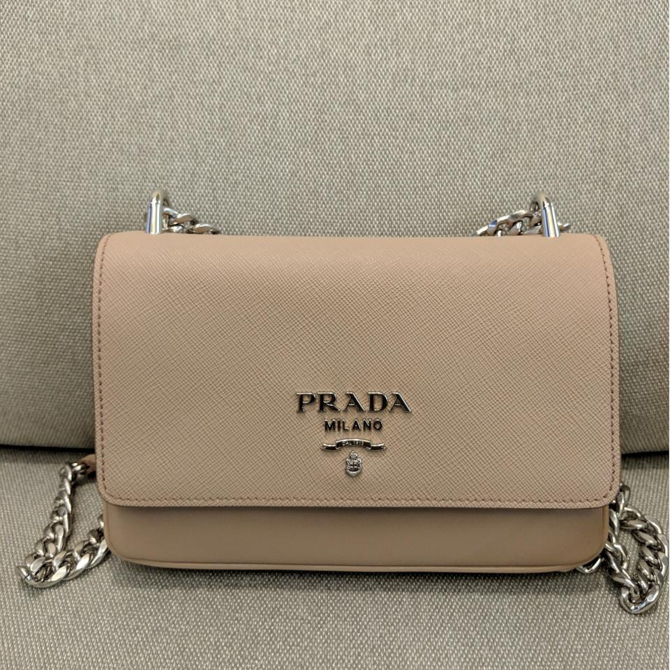 fc55a040862a Prada 1bd144 Beige Crossbody Calf Cipria Saffiano Leather Shoulder ...