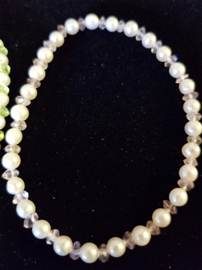 Unknown Set of 2 Freshwater Pearl and Gemstone Bracelets Image 3