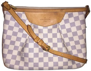 Louis Vuitton Damier Canvas Classic Lv Azur Cross Body Bag