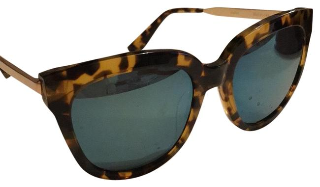 Item - Tortoise Aqua Blue Reflector Sunglasses