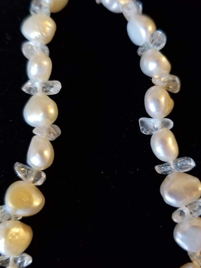 Unknown Set of 2 Freshwater Pearl and Gemstone Bracelets Image 1