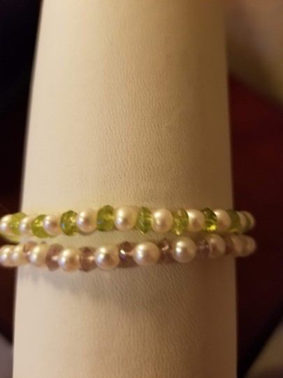 Unknown Set of 2 Freshwater Pearl and Gemstone Bracelets Image 4