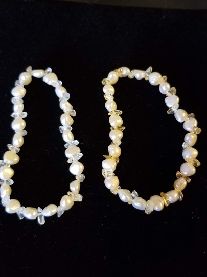 Unknown Set of 2 Freshwater Pearl and Gemstone Bracelets Image 6