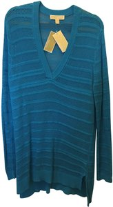 Michael Kors Cotton Blend V-neck New With Tags Sweater