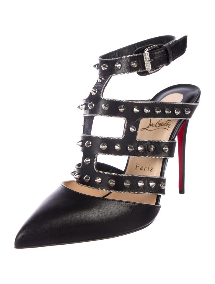 differently bf17c cb559 Christian Louboutin Black New Leather Studded 8.5 Pumps Size EU 38.5  (Approx. US 8.5) Regular (M, B) 33% off retail