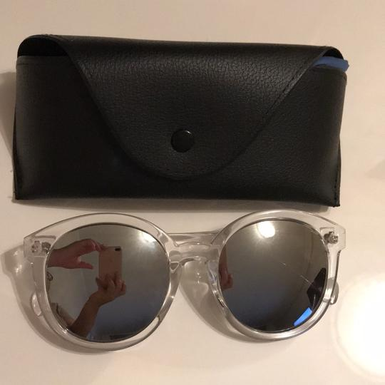 Clear Frame Sunglasses silver reflector clear frames Image 6
