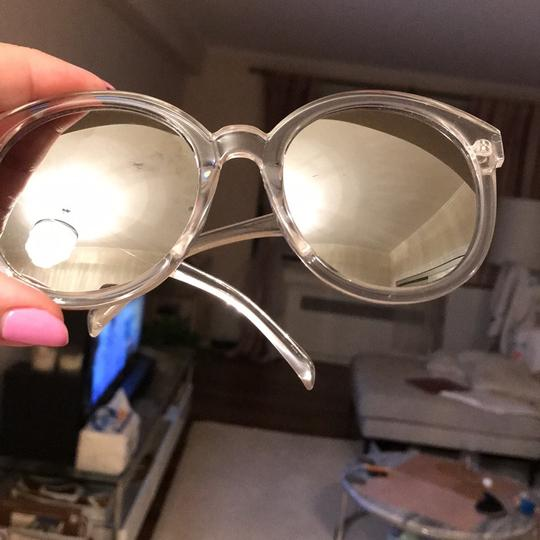 Clear Frame Sunglasses silver reflector clear frames Image 7