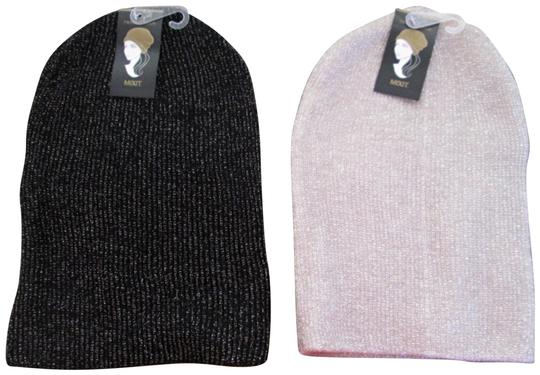 Preload https://img-static.tradesy.com/item/24260670/mixit-blackivory-two-new-women-s-stocking-caps-with-metallic-stripes-one-size-hat-0-1-540-540.jpg