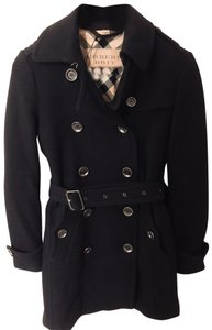 Burberry Brit Wool Belted Pea Coat