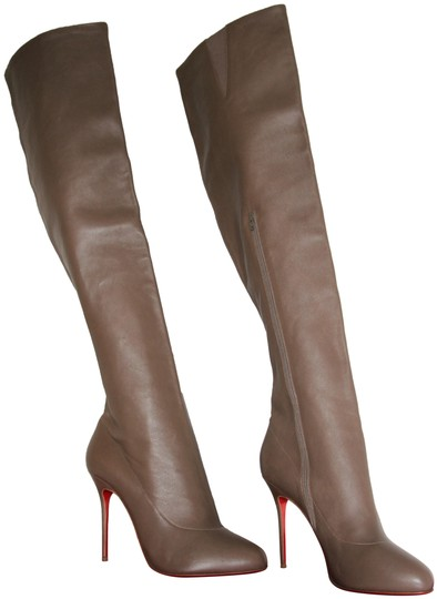 Preload https://img-static.tradesy.com/item/24260837/christian-louboutin-taupe-new-sempre-monica-thigh-high-knee-heel-lady-toe-red-sole-leather-italy-boo-0-5-540-540.jpg