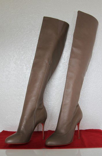 Christian Louboutin High Heels Pigalle Taupe Boots Image 1