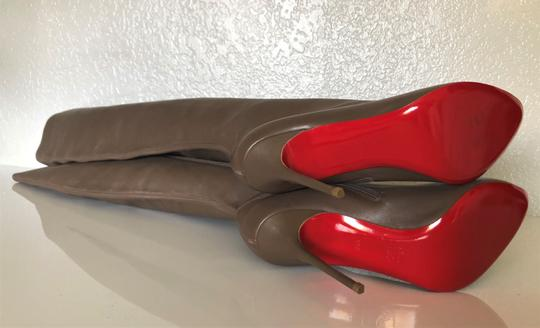 Christian Louboutin High Heels Pigalle Taupe Boots Image 10