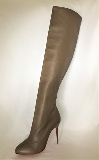 Christian Louboutin High Heels Pigalle Taupe Boots Image 3